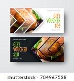 vector design gift voucher with ... | Shutterstock .eps vector #704967538