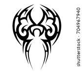 tattoo tribal vector design.... | Shutterstock .eps vector #704967940