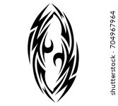 tattoo tribal vector design.... | Shutterstock .eps vector #704967964