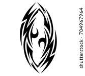 tribal tattoo art designs.... | Shutterstock .eps vector #704967964