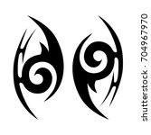 tattoo tribal vector design.... | Shutterstock .eps vector #704967970