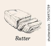 butter hand drawn vector... | Shutterstock .eps vector #704971759