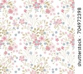 cute pattern in small flowers.... | Shutterstock .eps vector #704972398