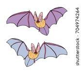 bat vector illustration. cute...   Shutterstock .eps vector #704974264
