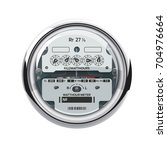 Electrical Meter Isolated On...