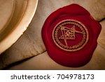 freemason secret symbol concept ... | Shutterstock . vector #704978173