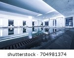 luxury swimming pool part of... | Shutterstock . vector #704981374