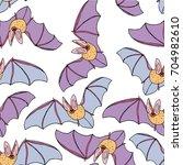 bat vector illustration. cute...   Shutterstock .eps vector #704982610