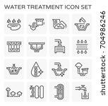water treatment plant vector... | Shutterstock .eps vector #704986246