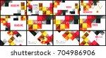 modern geometric presentation... | Shutterstock . vector #704986906