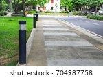bollards lighting  illuminate...   Shutterstock . vector #704987758
