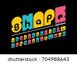 vector of modern abstract font... | Shutterstock .eps vector #704988643