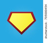 blank superhero badge. vector | Shutterstock .eps vector #705000454