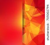 abstract polygonal vector... | Shutterstock .eps vector #705002794