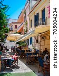 place district   ahens  greece  ...   Shutterstock . vector #705004234