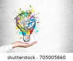 close up of a hand of an... | Shutterstock . vector #705005860