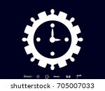 clock  gear circle of people ... | Shutterstock .eps vector #705007033
