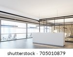 corner of a wooden office... | Shutterstock . vector #705010879