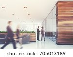 wooden and white company office ... | Shutterstock . vector #705013189