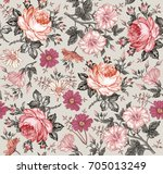 seamless pattern. beautiful... | Shutterstock .eps vector #705013249