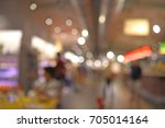blur restaurant with people  ... | Shutterstock . vector #705014164