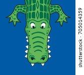alligator illustration  tee... | Shutterstock .eps vector #705014359