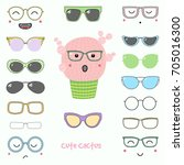 hand drawn vector illustration... | Shutterstock .eps vector #705016300