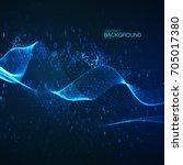 abstract transforming virtual... | Shutterstock .eps vector #705017380