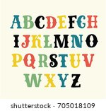cool vector set of western... | Shutterstock .eps vector #705018109