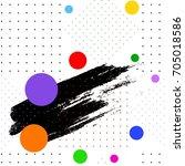 seamless pattern. black brush... | Shutterstock .eps vector #705018586