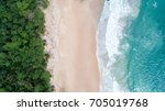 sea aerial view top view... | Shutterstock . vector #705019768