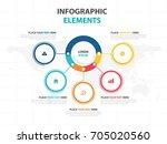 business infographic timeline... | Shutterstock .eps vector #705020560