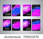flyer design templates. set of... | Shutterstock .eps vector #705022570