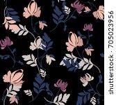 Stock vector flower pattern 705023956