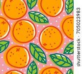 vector vintage seamless pattern ... | Shutterstock .eps vector #705023983
