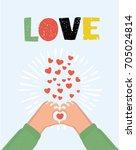 vector cartoon illustration of... | Shutterstock .eps vector #705024814