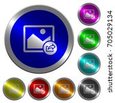 export image icons on round... | Shutterstock .eps vector #705029134