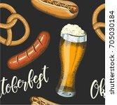 oktoberfest celebration... | Shutterstock . vector #705030184