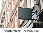 empty restaurant billboard sign ...   Shutterstock . vector #705032350