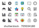 energy efficiency icons. lamp... | Shutterstock .eps vector #705034180