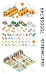 build your own city . set of... | Shutterstock .eps vector #705038749
