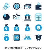 finance icons | Shutterstock .eps vector #705044290
