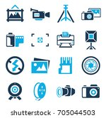 camera and photography icons | Shutterstock .eps vector #705044503