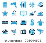 hotel icons | Shutterstock .eps vector #705044578