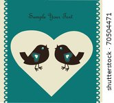 love card with birds | Shutterstock .eps vector #70504471