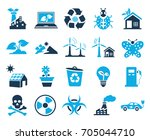 ecology icons | Shutterstock .eps vector #705044710