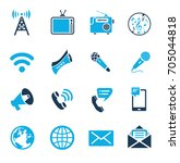 media icons | Shutterstock .eps vector #705044818
