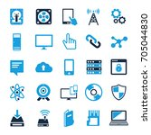 technology icons set computer ... | Shutterstock .eps vector #705044830