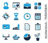 business icons | Shutterstock .eps vector #705045844