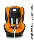 baby car seat  orange color ...   Shutterstock . vector #705046858